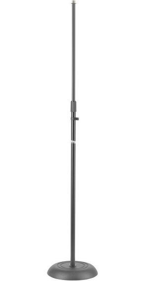 Pedestal Microfone Stagg Mis 1120bk Preto Reto Base Pesada