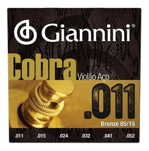 Encordoamento Giannini Cobra 011 P/ Violão Aço