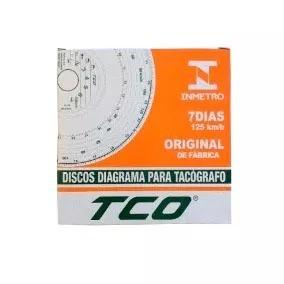 Disco Tacógrafo Semanal 125km/h Tco Kit Com 10 Caixas