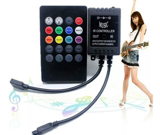 Controlador Musicar Infrarojo Rgb Para Led Control 20 Teclas