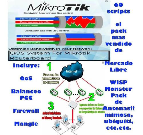 60 Scripts Profesionales Mikrotik + Regalos + Plantillas