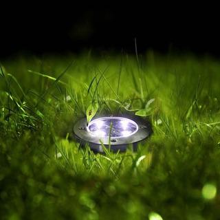 Disco De Luces Solares Con 4 Led Ideal Para Exteriores