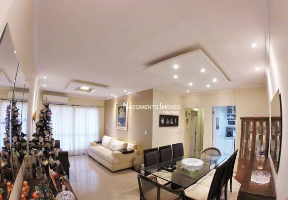 Apartamento Com 3 Dormitórios À Venda, 116 M² Por R$ 698.000 - Bosque - Campinas/sp - Ap0566