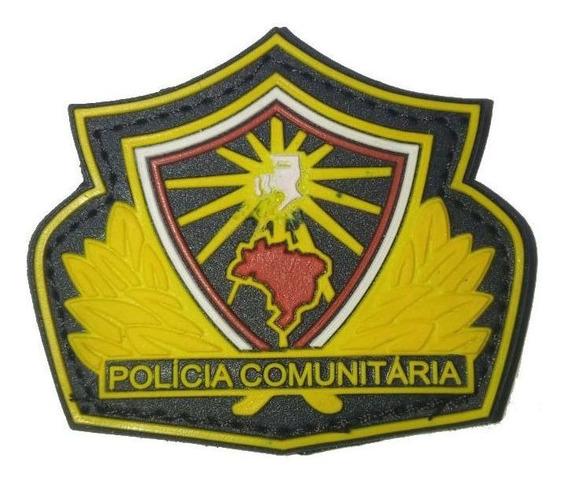Emborrachado Brevê Brasão Policia Comunitária Ver/am