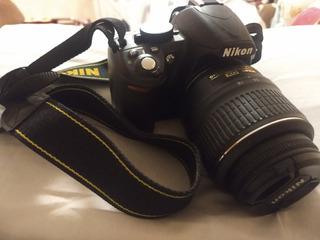 Camara Nikon D3100 +lente +estuche. Usada, Perfecto Estado