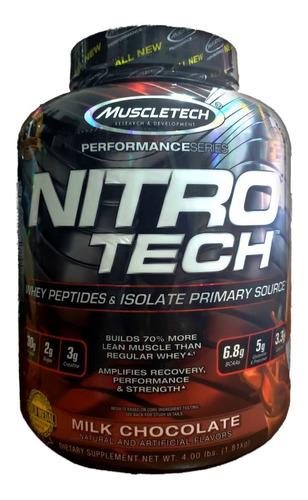 Imagen 1 de 1 de Nitro Tech 4 Lb Muscletech Proteina Isolada Whey Importada