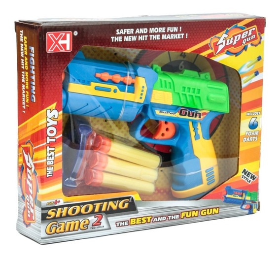 Arma Brinquedo Lançador Super Pistola Lança Dardos Eva