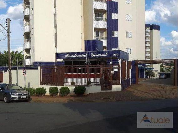 Apartamento Com 3 Dormitórios Para Alugar, 77 M² Por R$ 900,00/mês - Parque Fabrício - Nova Odessa/sp - Ap5651