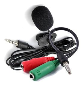 Microfone De Lapela E Adaptador Para Celular + Frete Grátis