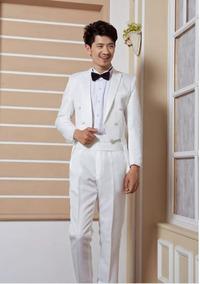 Meio Fraque Branco Masculino Formatura Casamento Promoçao