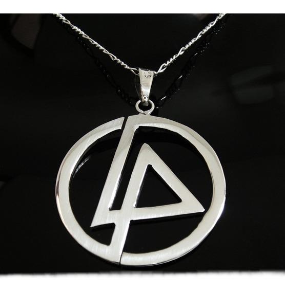 Dije De Linkin Park En Mediano Plata Solida Ley 0.925