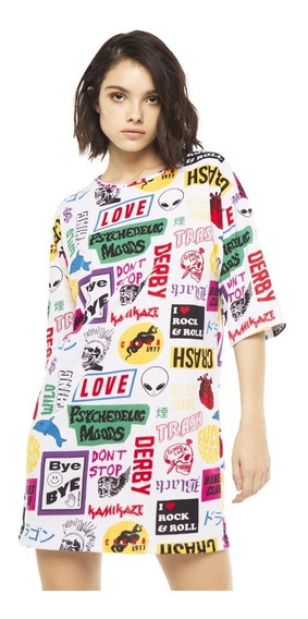 Vestido Patches Casual Jersey Manga 3/4 Mujer Complot