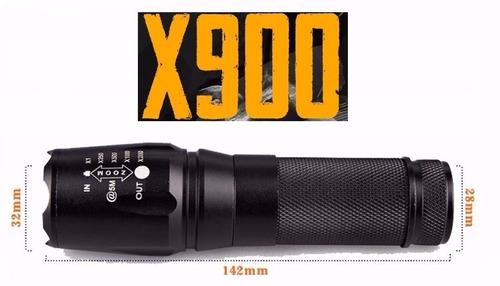 Lanterna Tática Militar 800 Lúmens X900 Original Novo Jl-xt
