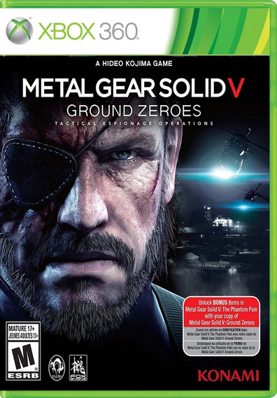 Metal Gear Solid V Ground Zeroes Xbox 360 Jogo Mídia Física