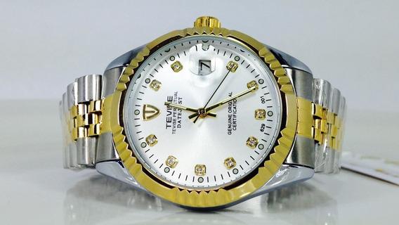 Reloj De Lujo Datejust Oro Acero Marca Tevise (ref 1900)