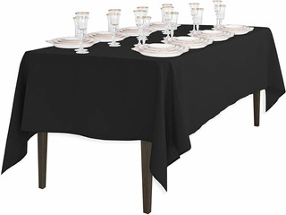 Mantel Para Mesa Color Negro Linen Tablecloth
