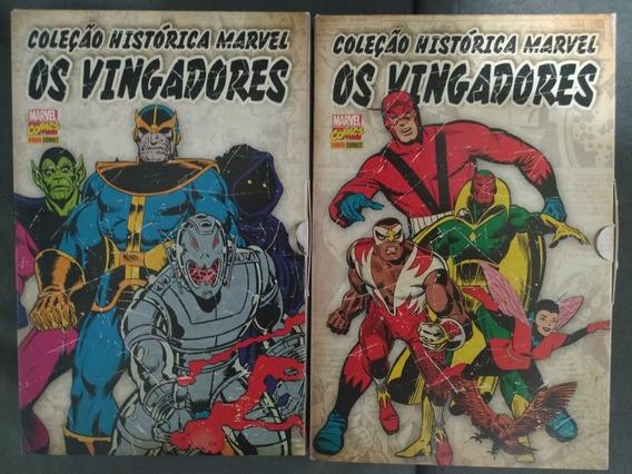Coleção Histórica Marvel Os Vingadores Panini Box 1 E 2