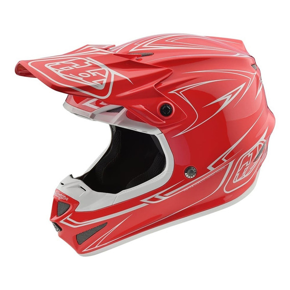 Casco Motocross Troy Lee Se4 Polyacrylite Pinstripe
