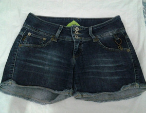 Short Jeans Azul Escuro, N.38, Com Elastano, Marca Disritmia