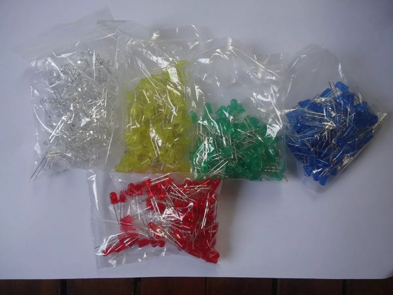 Kit 50 Peças Led 5mm Vermelho, Verde,azul, Amarelo, Branco