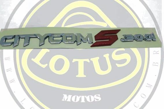 Emblema Adesivo Lateral Traseiro Dafra Citycom 300 S Original Sym 51558-a21-000 Com Nota