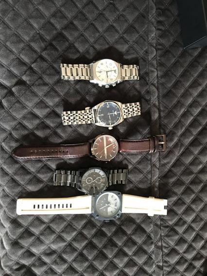 5 Relógios - 2 Empório Armani - 1 A. Exchange - 2 Diesel