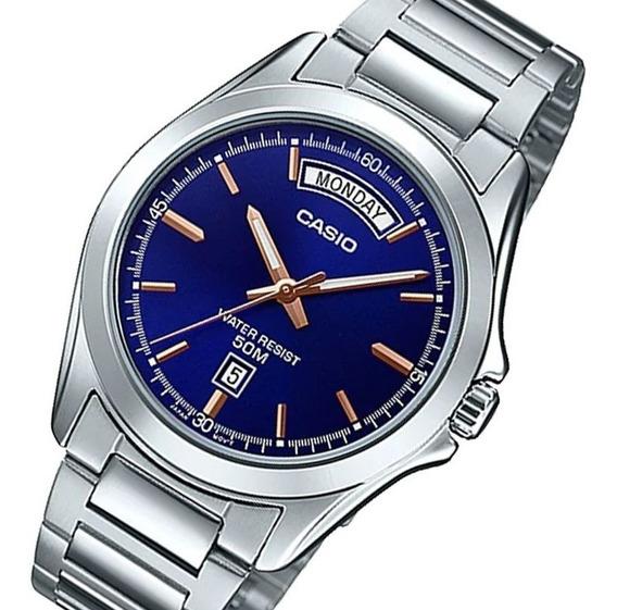 Relógio Casio Mtp-1370d-2a Pulseira De Aço