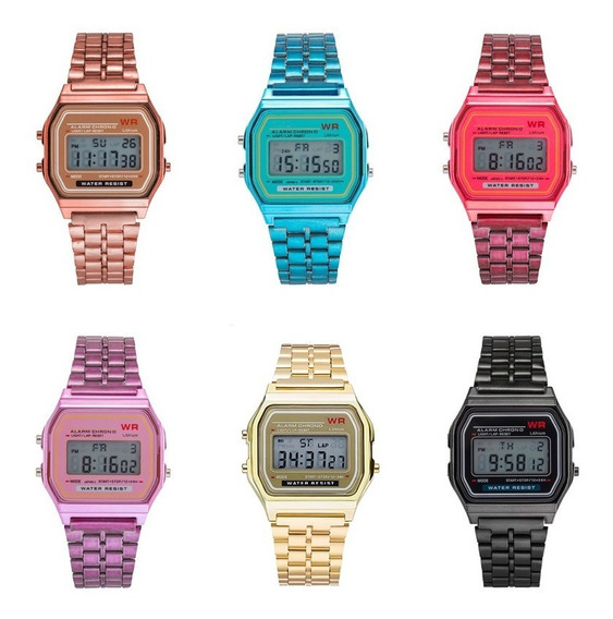 Reloj Vintage Digital Metalico Tlpo Casio