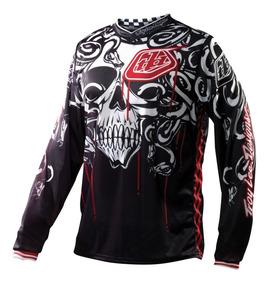 Camisa Motocross Trilha Troy Lee Gp Medusa Preto/vermelho