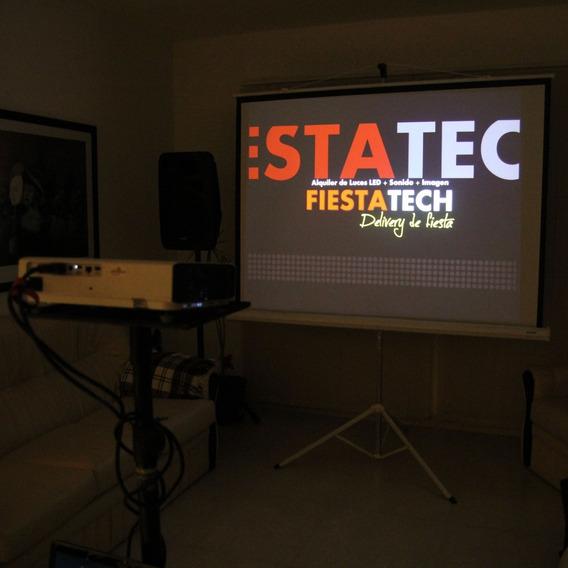 Alquiler De Proyector Pantalla Gigante Tv Led Karaoke Sonido