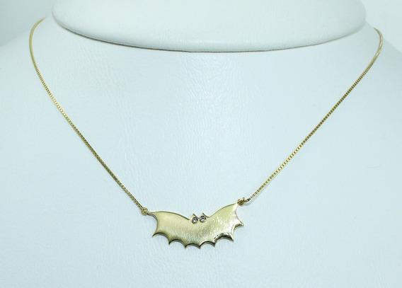 Pocao2005 Colar Ouro 18k Morcego Diamantes 12x S/j Ft/gt C53