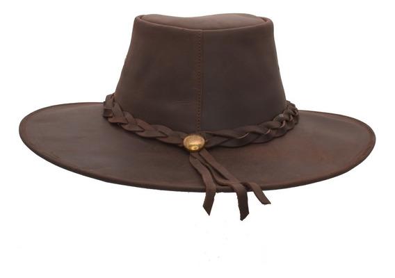 Sombrero Piel Cuero 100% Indiana Explorer Vintage Unisex