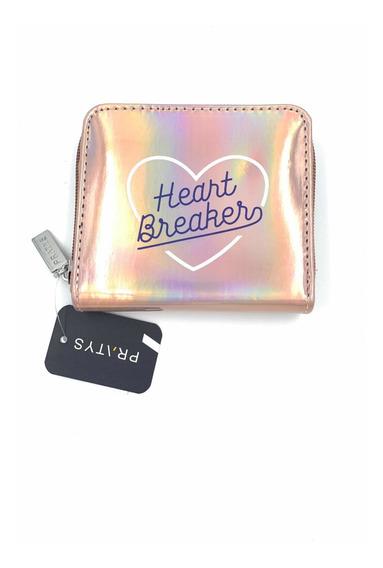 Billetera De Mujer Con Corazón Alfabeto Marca Pratys Cuadrad