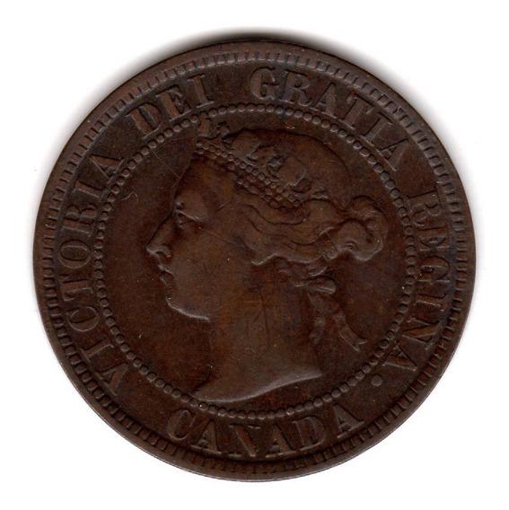 Bkz / Canadá - 1 Cent 1898 H Cobre