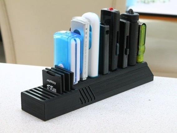 Porta Cartão Sd E Micro Sd , Estojo Organização Pen Drive