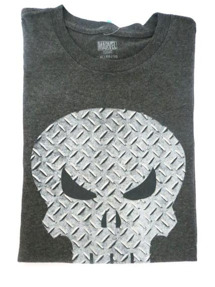 Camisa Marvel Original Masculina Cinza Caveira Gg