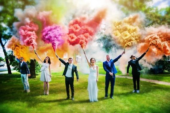 Lança Fumaça Colorida Popper Cores A Escolher