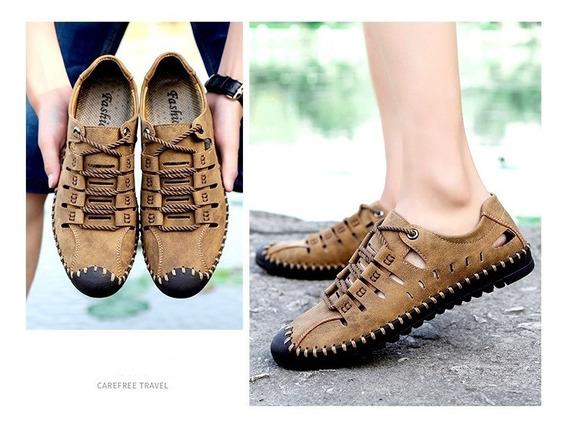 Homens Casual Ervilhas Couro Sapatos