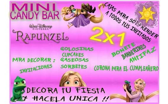 Kit Imprimible Mini Candy Rapunzel! 2x1 Imperdible