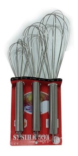 Imagen 1 de 3 de Set Batidor De Alambre Cocina Decoración Tortas Reposteria