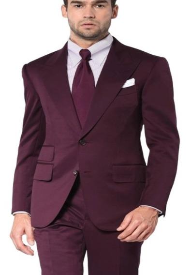 Blazer Marsala Slim Masculino - Paleto+calça+capa+barato*