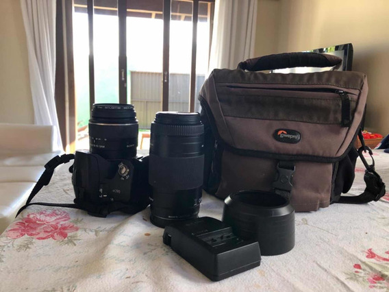 Camera Sony Alpha 390 + Lente 75-300