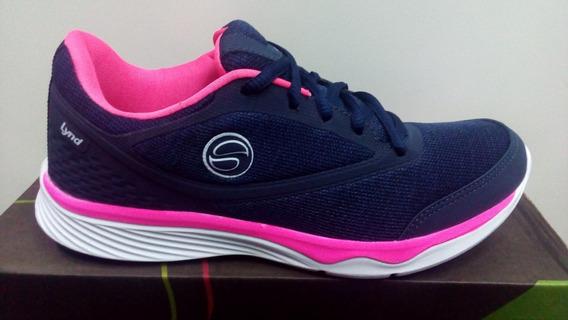 Tenis Lynd Jogging 477-2061 Marinho/rosa