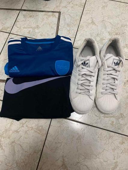 Paquete Jersey adidas, Jersey Nike Y Tenis adidas