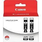Canon Pgi-225 Ink Cartridge 2-pack Pgi-225bk Ink Cartridges