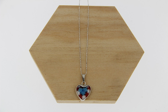 Cadena Con Corazón Murano