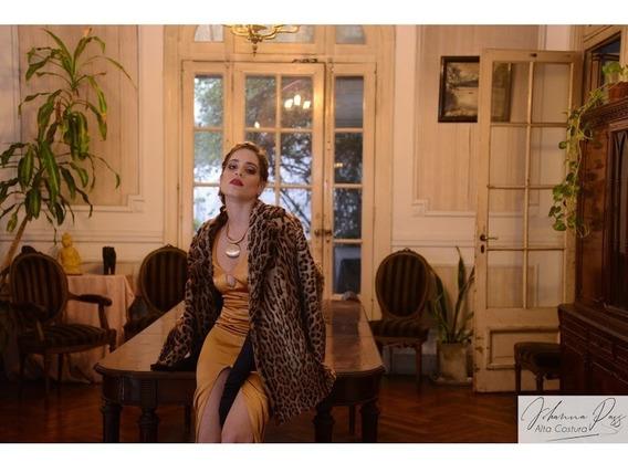 Vestido De Fiesta Largo Sexy Con Tajo Central
