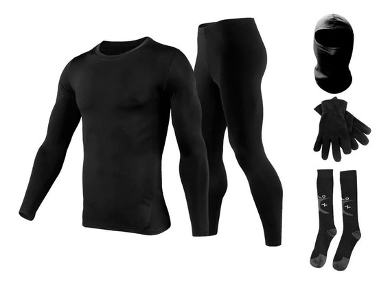 Equipo Termico Moto Remera+calza+balaclava+media Ski Oslo