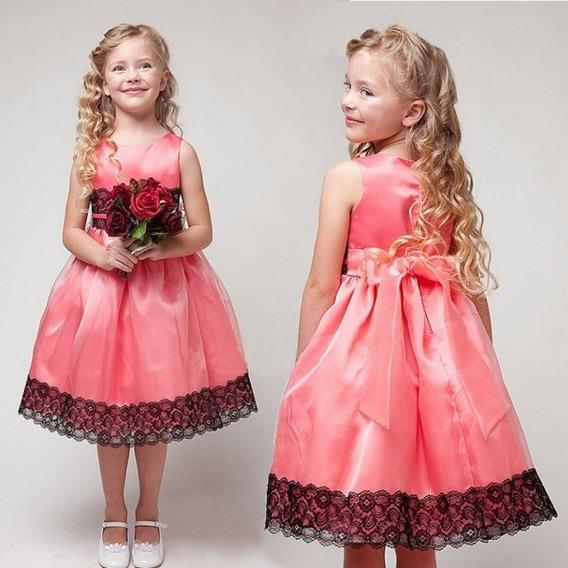 Vestido Infantil Bailes, Aniversário, Festas; Pronta Entrega