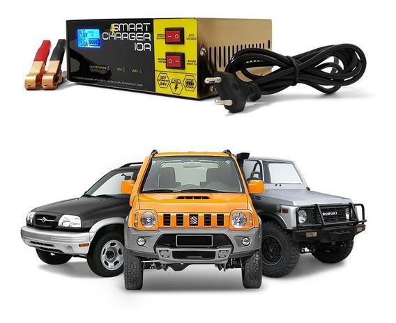 Carregador Bateria Automotiva 10a Inteligente Digital Carro
